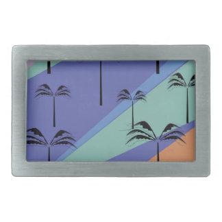 Design palms exotic blue belt buckle