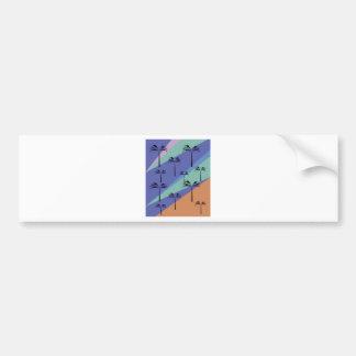 Design palms exotic blue bumper sticker