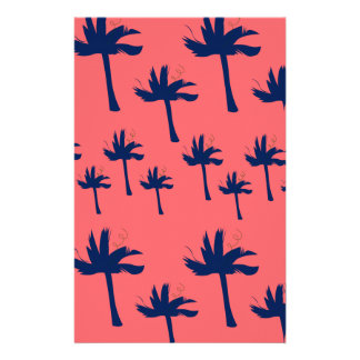 Design palms exotic stationery
