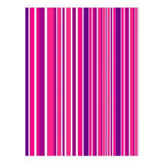 Design pink Bamboo elements Postcard