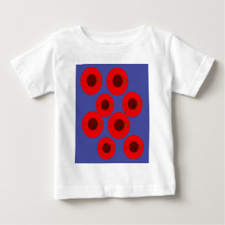 Design pink plums on blue baby T-Shirt