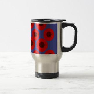 Design Plums on blue Travel Mug