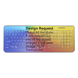 Design Request Wireless Keyboards