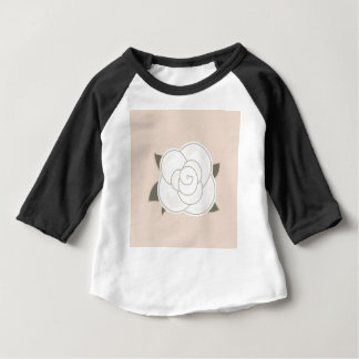 Design rose brown eco baby T-Shirt