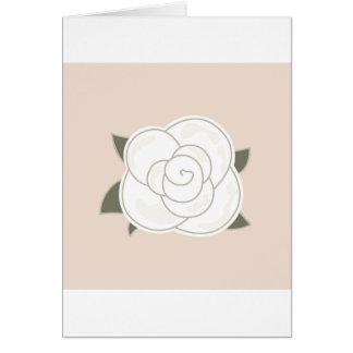 Design rose brown eco card