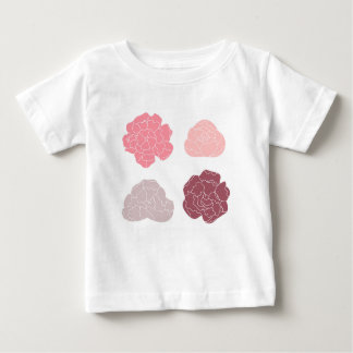 DESIGN ROSES PINK ON WHITE BABY T-Shirt