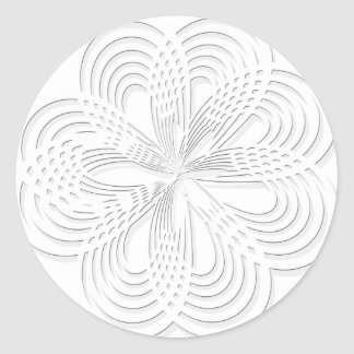 design rosette circle design round mark classic round sticker