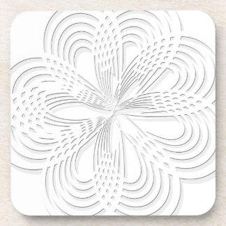 design rosette circle design round mark coaster