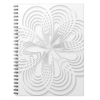 design rosette circle design round mark notebook
