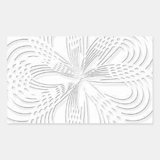 design rosette circle design round mark sticker