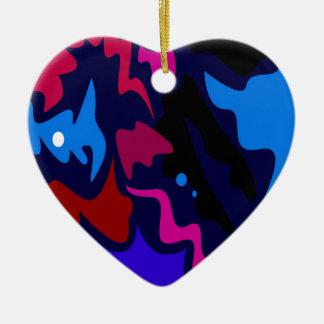 Design splash ethno dots blue ceramic ornament