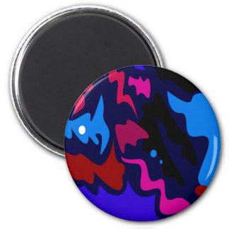 Design splash ethno dots blue magnet