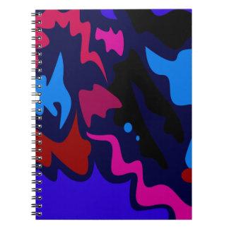 Design splash ethno dots blue notebook