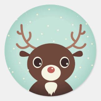 Design sticker with brown Reindeer