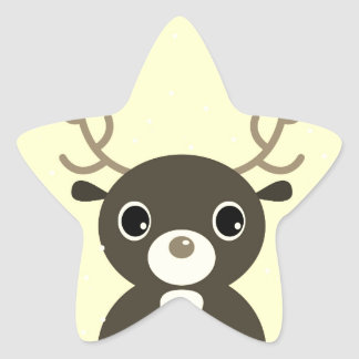 Design sticker with cute Reindeer
