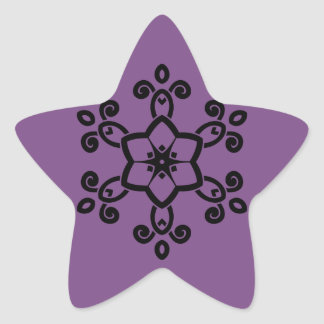 Design sticker with mandala art