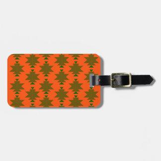 Design wild aztecs eco luggage tag