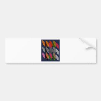 Design wild exotic Leaves Bumper Sticker