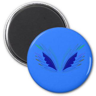 Design wings blue ethno magnet