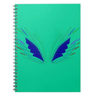 Design wings eco Green Spiral Notebook