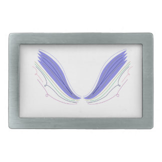 Design wings on white belt buckle