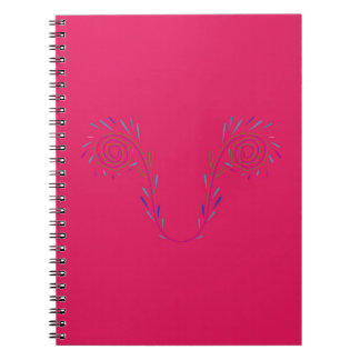 Design wings red Eco Spiral Notebook