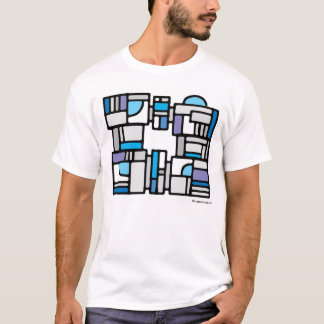 Design with blue arcs 007 T-Shirt