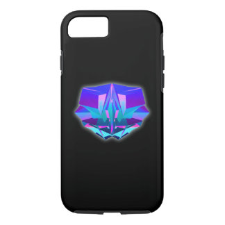 Design with geometric crystal on a black backgroun iPhone 7 case