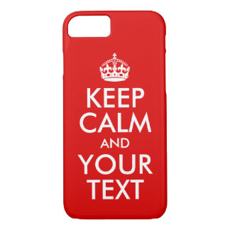Design You Own Keep Calm and Carry On iPhone 8/7 Case