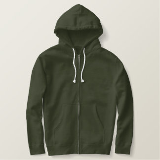 Design Your Own Army-Green Zip Hoodie
