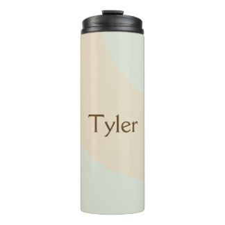Design your own Blue and Tan Swirls Thermal Tumbler