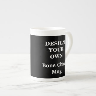 Design Your Own Bone China Mug - Black