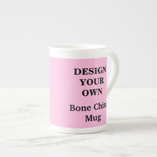 Design Your Own Bone China Mug - Light Pink