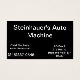 Design Your Own Business Card Classic Black