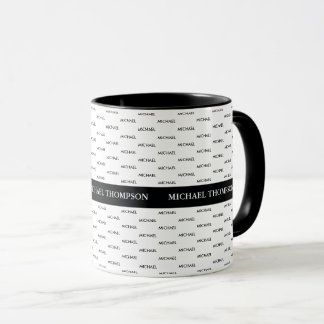 design your own cool modern blk. mug with names