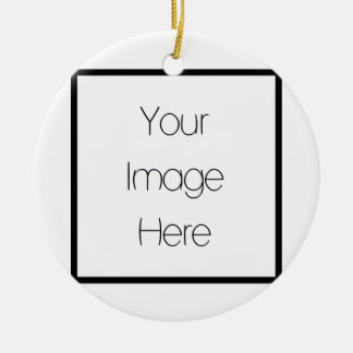 Design Your Own Custom Gift - Blank Round Ceramic Ornament