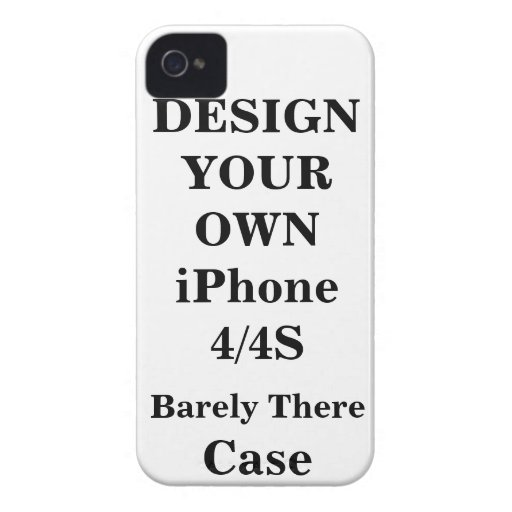 Design Your Own iPhone 4 / 4S Barely There™ Case iPhone 4 Cases