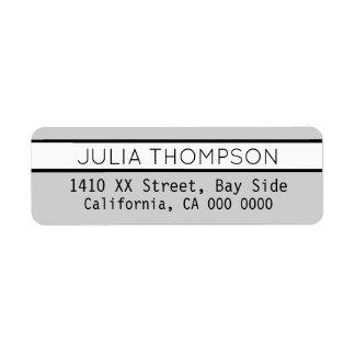 design your own light gray elegant return address label
