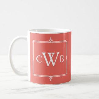 Design Your Own Monogram Customizable Colour Hue Coffee Mug