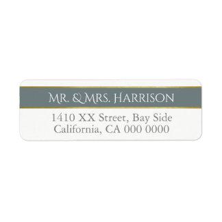 design your own mr. & mrs. elegant return address label