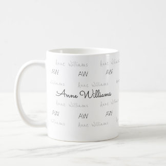 design your own name pattern clean & clear coffee mug