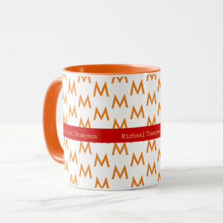 design your own orange-color mug with name