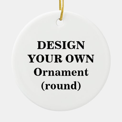 Design Your Own Ornament (round)