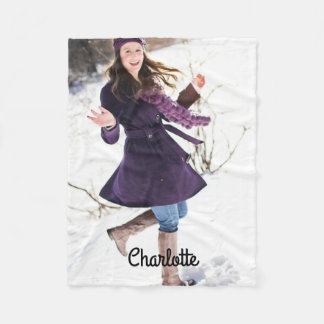Design Your Own Personlaized Custom Fleece Blanket