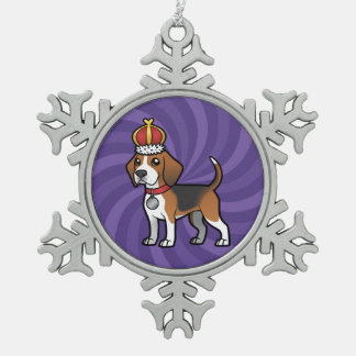 Design your own pet pewter snowflake ornament