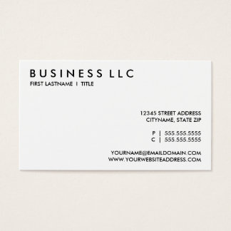 design your own : plain black and white. business card