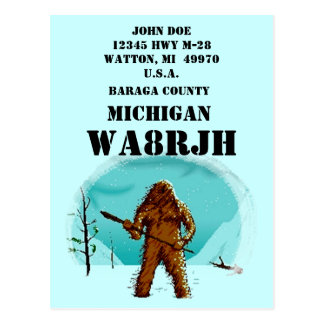 Design Your Own QSL HAM Radio Operator Op Big Foot Postcard