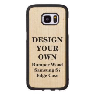Design Your Own Samsung S7 Edge Bumper Wood Case