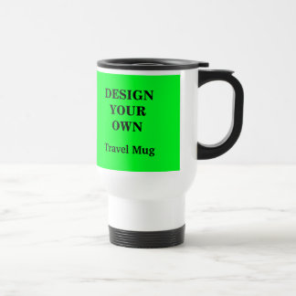 Design Your Own Travel Mug - Green and White