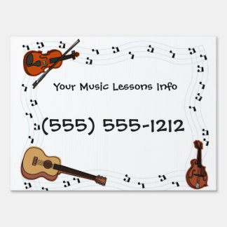 Design your own Yard Sign Music Lessons Business